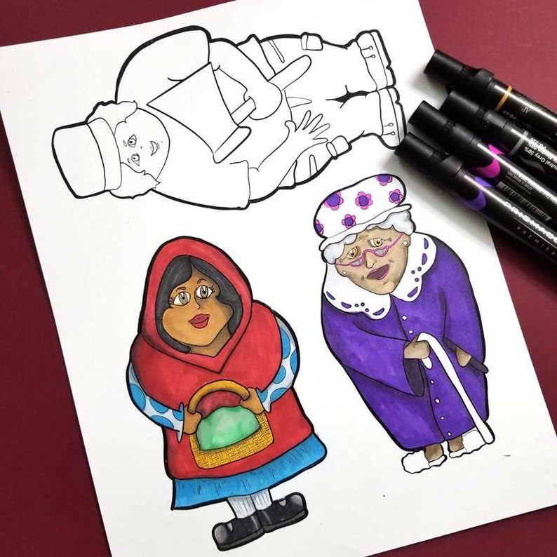 Kids Activitiews and Crafts  Little Red Riding Hood Puppets  image 0