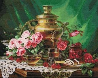 NEW UNOPENED Counted Cross Stitch Kit Golden Fleece SZ-046 Tea with honey