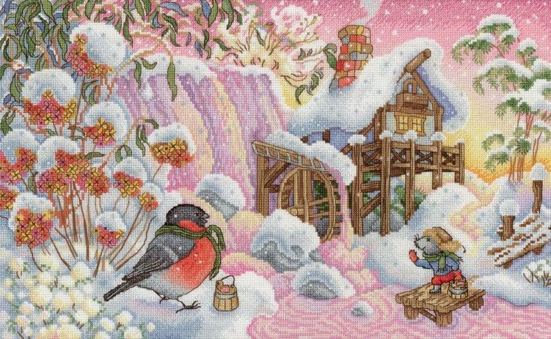 NEW UNOPENED Counted Cross Stitch Kit MP Studio The Magic River HB643 Mouses