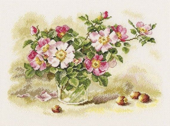 GARDEN FLOWERS Counted Cross Stitch Kit RTO