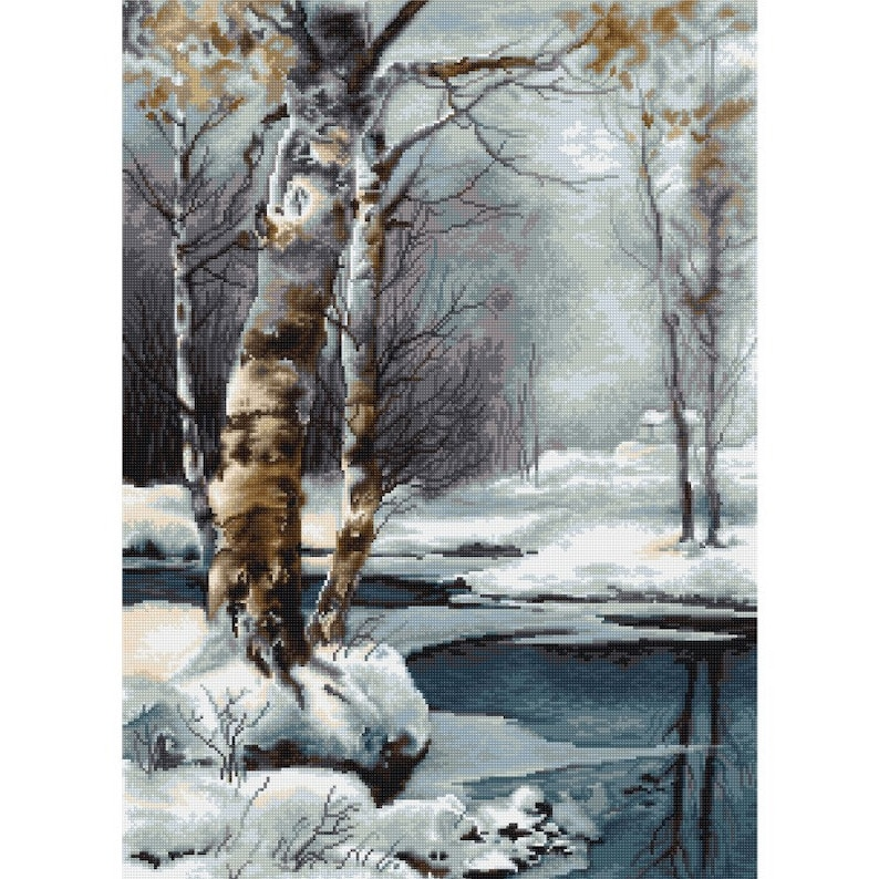 NEW UNOPENED Needlepoint Embroidery KIT Petit point Gobelin Luca-S G560 The Winter Landscape