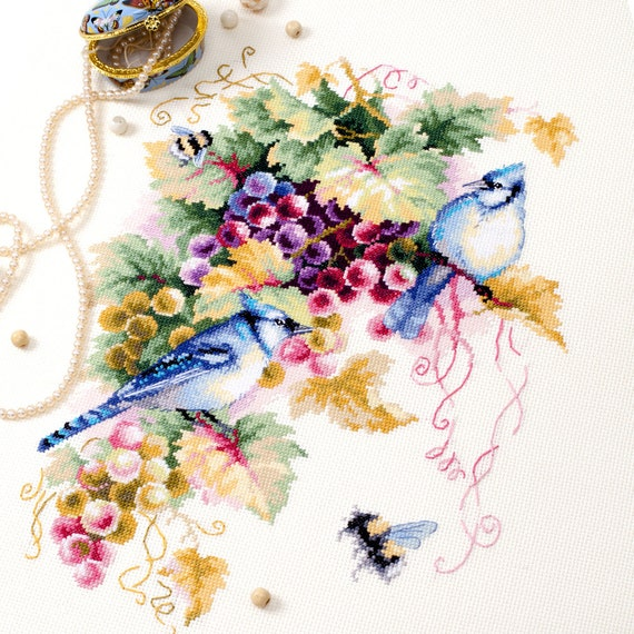 Cross Stitch Kit In a camomile glade art butterfly 42-12