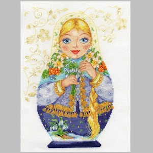 NEW UNOPENED Russian Counted Cross Stitch KIT Alisa 3-04 Evening in Mountains