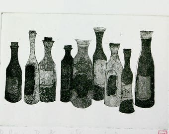 Bottles - Original Etching