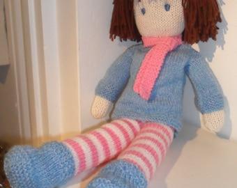 Rag Doll Knitting Pattern pdf - Instant Download