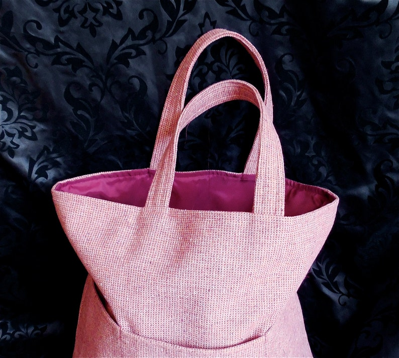 Large Carry-All Tote in Cranberry Tweed