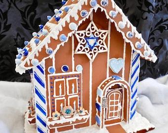 Faux Gingerbread Hanukkah Cottage
