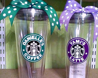 "Personalized ""Starbucks"" Tumbler"