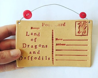 Land of Dragons & Daffodils Postcard