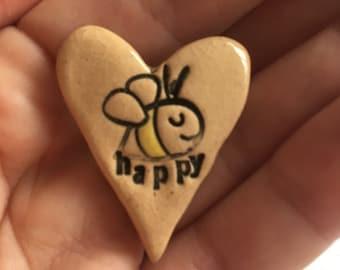 Bee Happy Brooch