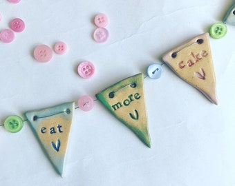 Eat More Cake Mini Bunting