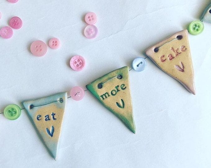 Featured listing image: Eat More Cake Mini Bunting