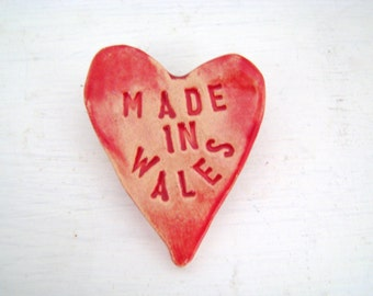 Made in  Wales - heart brooch