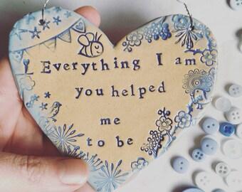 Everything I am:  ceramic heart.