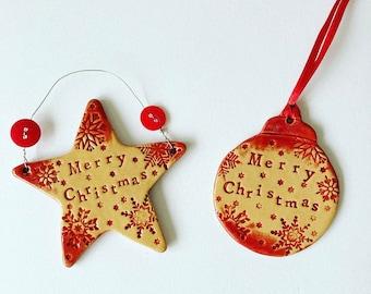 Merry Christmas Star /  Bauble