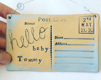 Hello baby Customised postcard