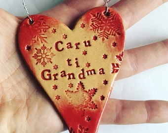Caru Ti Gran, Mamgu, Nanna... (I love you in Welsh) Heart