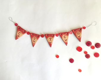 Cwtch - mini ceramic bunting
