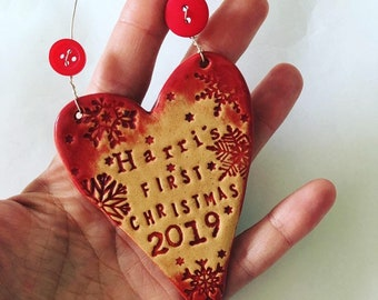 Bespoke First Christmas Heart