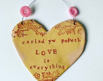 Love is Everything (Cariad yw Popeth) heart