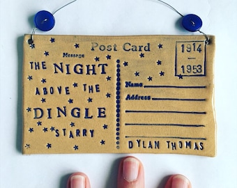 The Night above the Dingle Starry - Dylan Thomas postcard