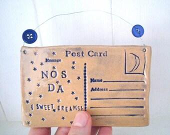 Nos Da  postcard