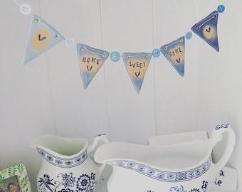 Home Sweet Home - mini ceramic bunting