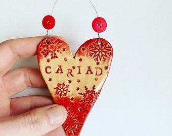 Cariad (Love in Welsh) Heart
