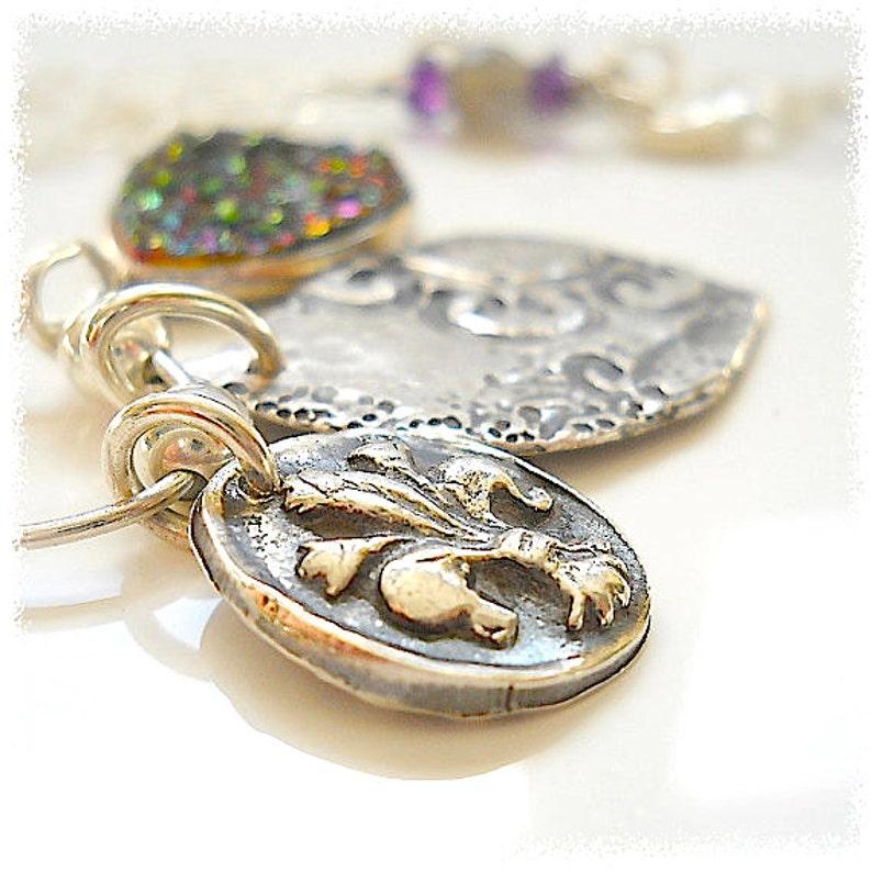 Wax Seal Jewelry ARTISAN DRUZY / Drusy Necklace  THREE image 0