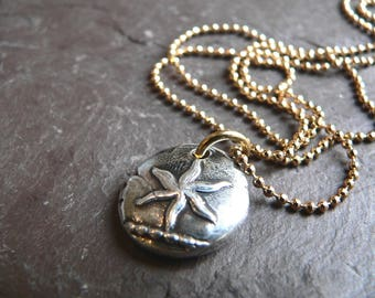 Wax Seal Jewelry Talisman Pendant - ESTOILE -Direction & Constancy- SUMMER Star STARFISH Pendant - Jewelry with Meaning, Mens Jewellery