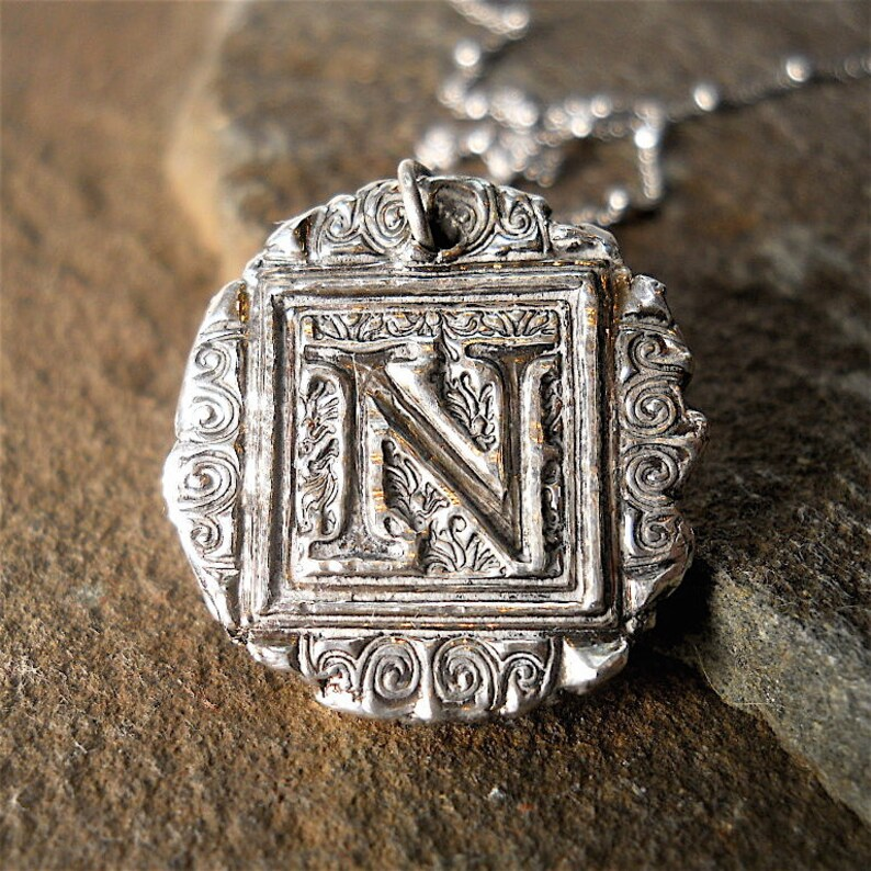 My MOST POPULAR INITIAL  Wax Seal Charm Antique Wax Seal image 0