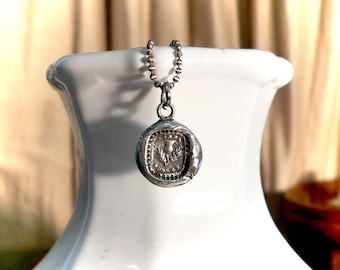 """DON'T FORGET ME """"Dinna Forget""""  Outlander - Wax Seal Necklace - Gift For a Friend - Scottish Thistle Charm-  ~~You Are Aways on My Mind~~"""