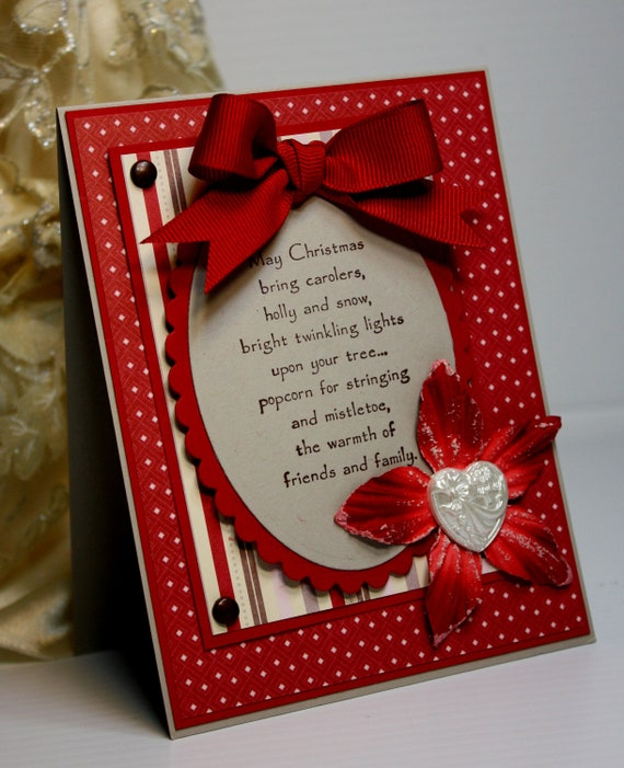 Items similar to Christmas Card - Handmade Greeting Card ...