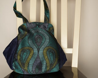 Retro Blue Tricia purse