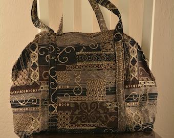 Black Italian quilt Gitana purse