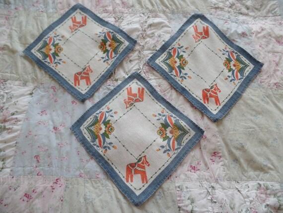 3 units Rendez-vous handkerchiefs