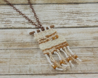 Mini Tapestry Pendant Necklace