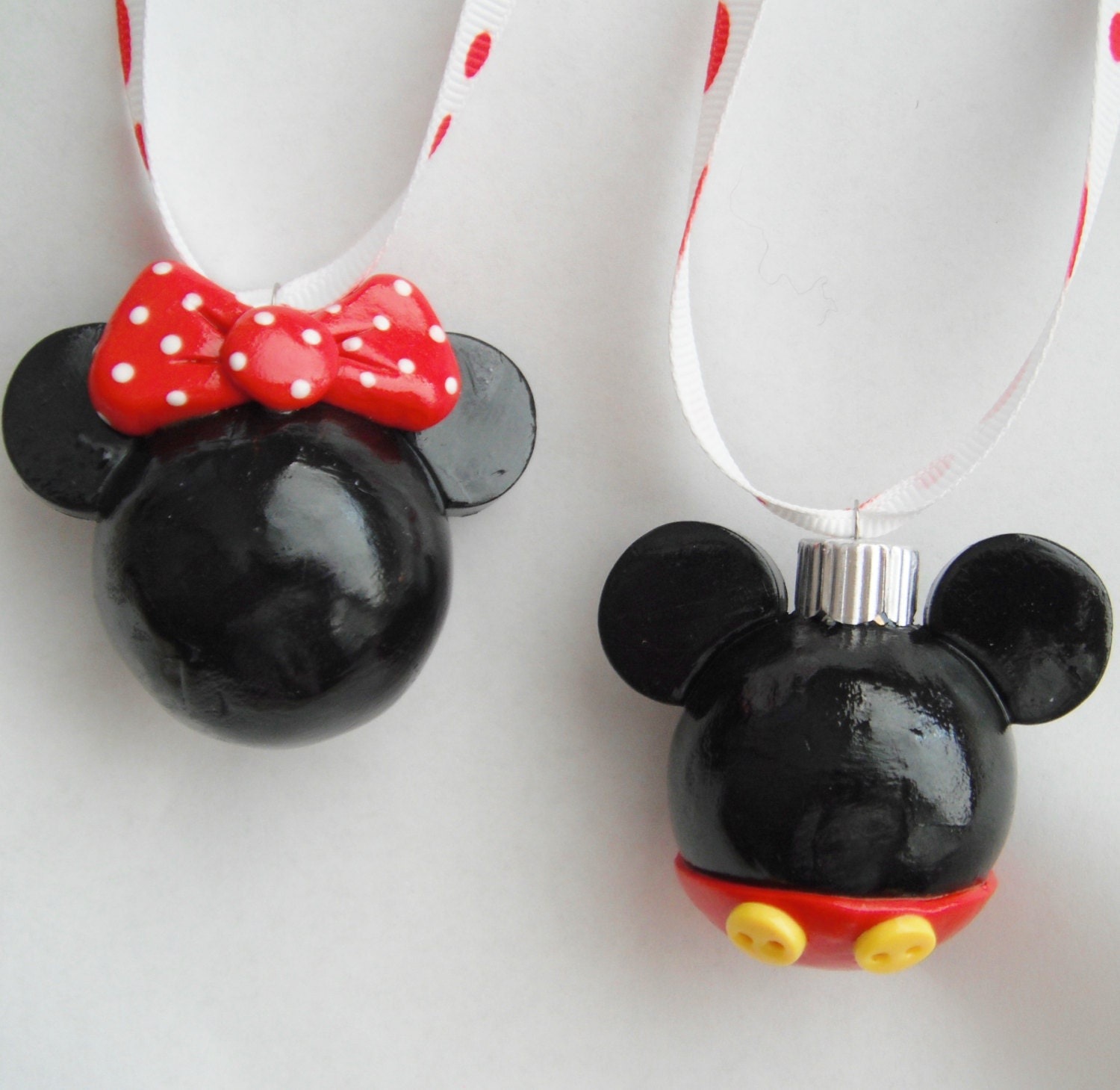 Ornaments for Christmas Mickey and Minnie Mouse handmade ...