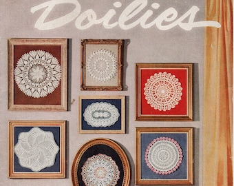 Star Doily Book 124 Doilies Crochet 1950s Patterns 1 Knitted Doily