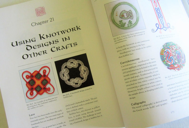 Interweaving Ribbonwork CELTIC KNOTWORK DESIGNS Sheila Sturrock over 200  Designs Many Applications
