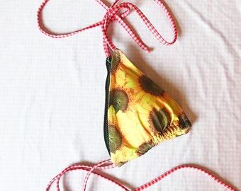 NEW Sunflower Plaid Bikini Halter Top