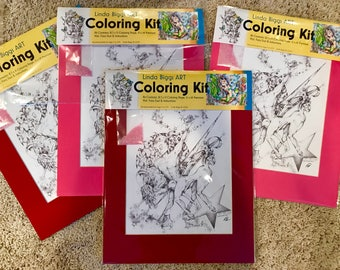 Adult Coloring, seriously Adult, sex for stress .... or coloring for stress therapeutic coloring kit, by Linda Biggs