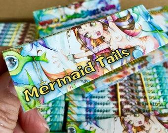 Mermaid Hemp Rolling Papers, Linda Biggs ~Limited Artist Edition, Hand Signed