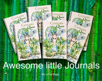 NOW AVAILABLE... Cannabis Queen Note pads by Linda Biggs