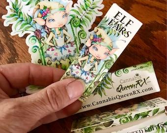 Hemp Rolling Papers & outdoor Sticker Linda Biggs Elf Ears