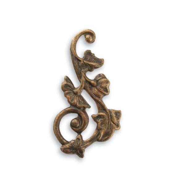 component filigree 2 pcs Vintaj Brass Mythical Wing