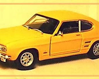 1/43 1980s Ford Capri diecast automobile