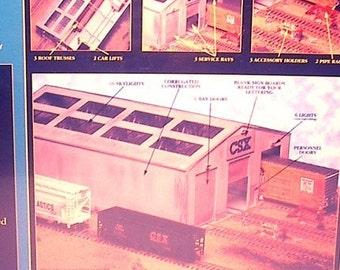 N Trains Building - Train Car Repair Shop