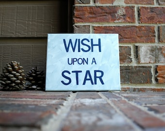 """Wish Upon A Star Painted on 8""""x10"""" Stretched Canvas"""