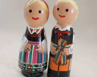 "Polish Peg Dolls - Set of Two - medium 2 3/4"" size"
